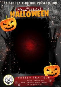 Affiche menu halloween à remplir